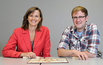 Penny Pexman and Ian Hargreaves discover the benefits of Scrabble practice for word recognition. Photo by Riley Brandt